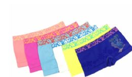 48 Units of Girl's Seamless Boxers With Rhinestones - Girls Underwear and Pajamas