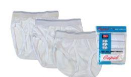 72 Units of Boy's Cotton White Briefs - Boys Underwear