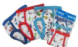 72 Units of Boy's Cotton Briefs With Print - Boys Underwear