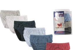 72 Units of Boy's Striped Cotton Briefs - Boys Underwear