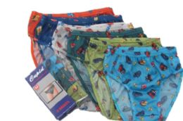 72 Units of Boy's Nylon Briefs With Pattern - Boys Underwear