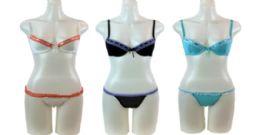 48 Units of Ladies' Bra And Bikini Set With Hanger - Womens Bras And Bra Sets