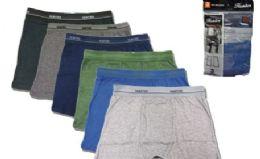 36 Units of Men's Cotton Boxer Briefs Plus Size - Mens Underwear