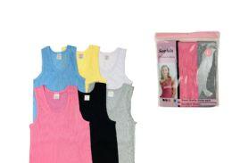 48 Units of Ladies' Cotton Coloured A-Shirt - Women's T-Shirts