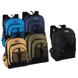 """24 Units of 17"""" Multi Compartment Bulk Backpacks In 5 Assorted Colors - Backpacks 18"""" or Larger"""
