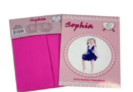 48 Units of Girl's Pantyhose In Hot Pink Color - Girls Socks & Tights