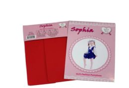 48 Units of Girl's Pantyhose In Red Color - Girls Socks & Tights