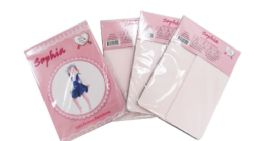 48 Units of Girl's Pantyhose In Off Pink Color - Girls Socks & Tights