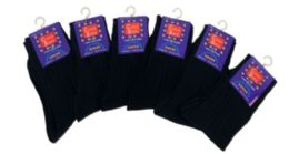 96 Units of Boy's Nylon Dress Socks In Black - Boys Crew Sock