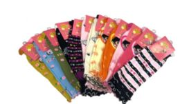 72 Units of Girl's Leg Warmer With Design One Size - Girls Boots