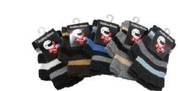 96 Units of Boy's Imitation Wool Fingerless Glove - Kids Winter Gloves