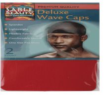 120 Units of Sable Beauty Deluxe Wave Cap 2 Pack Red - Hair Accessories