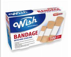 96 Units of Wish Bandage 100 Count - Bandages and Support Wraps