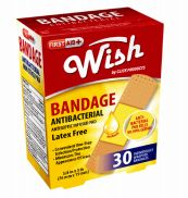 96 Units of Wish Bandage Antibacterial 30 Count - Bandages and Support Wraps
