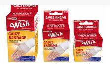 96 Units of Wish Bandage Gauze Assorted Sizes - Bandages and Support Wraps