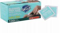 48 Units of Wish Alcohol Prep Pads 100 Pack - First Aid and Hygiene Gear
