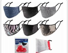 72 Units of Reusable Cloth Mask Glitter - Face Mask