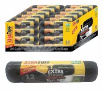 96 Units of Xtratuff Trash Bag Roll 26 Gallon 12 Count - Garbage & Storage Bags