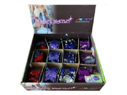 144 Units of Shimmer Bracelets in Assorted Colors in Countertop Display - Bracelets