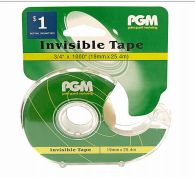 96 Units of Invisible Clear Tape - Tape