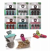48 Units of Ideal Home Bag Clip Set With Magnet 4 Pack - Clips and Fasteners