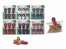 48 Units of Ideal Home Bag Clip Set With Magnet 6 Pack - Clips and Fasteners