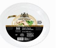 48 Units of Ideal Dining Plastic Bowl 12 Inch White 50 Count - Disposable Plates & Bowls