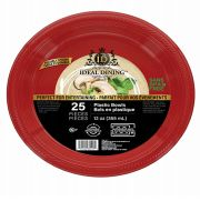 96 Units of Ideal Dining Plastic Bowl 12 Inch Red 25 Count - Disposable Plates & Bowls
