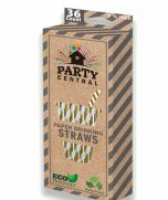96 Units of Party Central Paper Straws Gold 36 Count - Straws and Stirrers