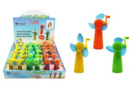 60 Units of Hand Crank Fan (higH-Speed) - Summer Toys