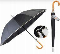 24 Units of Drops Umbrella Long Wood Handle - Umbrellas & Rain Gear