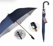 24 Units of Drops Umbrella Long 70 Cm Silver Lining - Umbrellas & Rain Gear