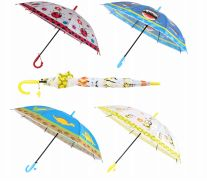 24 Units of Drops Umbrella Kids With Animal Print - Umbrellas & Rain Gear