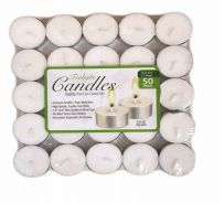 48 Units of Candle Tealight 50 Pack Shrink - Candles & Accessories