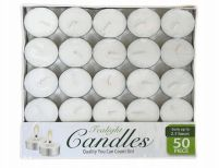 48 Units of Candle Tealight 50 Pack Box - Candles & Accessories