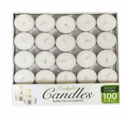 12 Units of Candle Tealight 100 Pack Box - Candles & Accessories