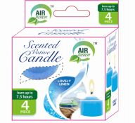 96 Units of Air Fusion Votive Candle 4 Pack Lovely Linen - Candles & Accessories
