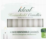 72 Units of Ideal Taper Candles 4 Inch 9 Pack - Candles & Accessories