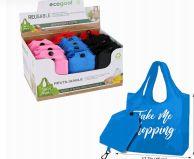 48 Units of Ecogoal Reusable Foldable Shopping Bag - Tote Bags & Slings