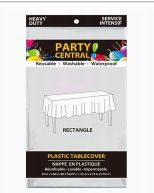 96 Units of Table Cover Rectangle White Heavy Duty - Party Paper Goods