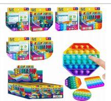 48 Units of Krazy Popper Bubble 3 Mix Shape Rainbow - Light Up Toys