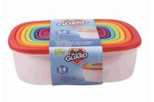 24 Units of 14 Piece Plastic Food Container Rectangle - Food Storage Containers