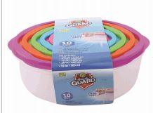24 Units of 10 Piece Plastic Food Container Round With Vent - Food Storage Containers