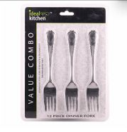 48 Units of 12 Pack Beaded Kitchen Dinner Fork - Kitchen Cutlery