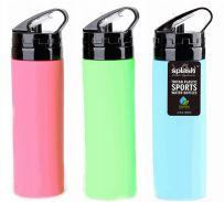 24 Units of Splash Collapsible Silicone Bottle 20.3oz. - Drinking Water Bottle