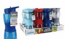 24 Units of Splash Plastic Infuser Bottle 21 Ounce Grip In Display - Drinking Water Bottle