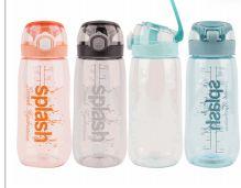 24 Units of Splash Plastic Bottle 24.35 Ounce Flip Cap With Lock - Drinking Water Bottle