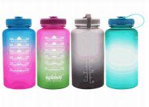 24 Units of Splash Plastic Bottle 33.8 Oz Twist Cap Motivational - Drinking Water Bottle