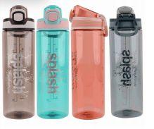 24 Units of Splash Plastic Bottle 23.67 Oz Flip Cap With Lock - Drinking Water Bottle