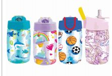 24 Units of Splash Plastic Bottle Kids 16.9 Oz Flip Straw - Drinking Water Bottle